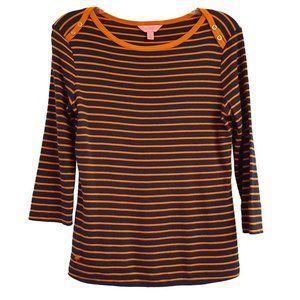 Lilly Pulitzer Striped Boatneck Tee